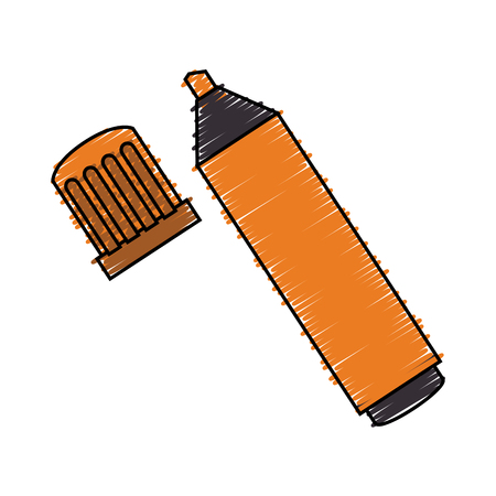 highlighter pen: highlighter pen isolated icon vector illustration design