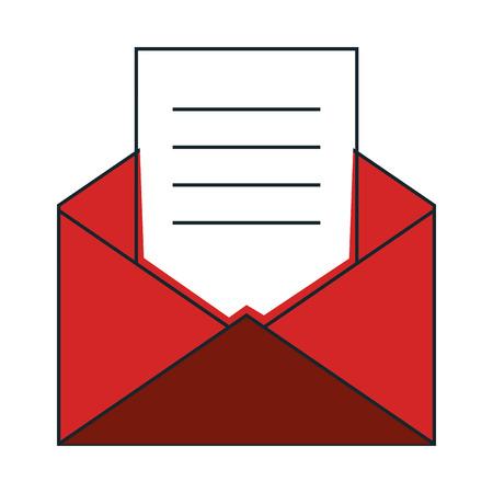 envelope mail isolated icon vector illustration design Illustration