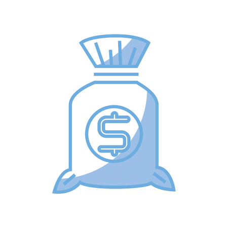 money bag isolated icon vector illustration design Stock Vector - 76964729