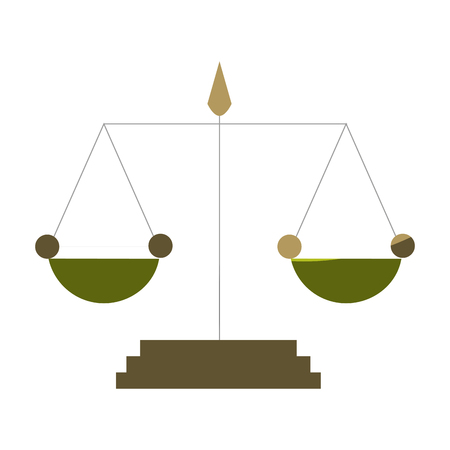 acquit: scale justice isolated icon vector illustration design