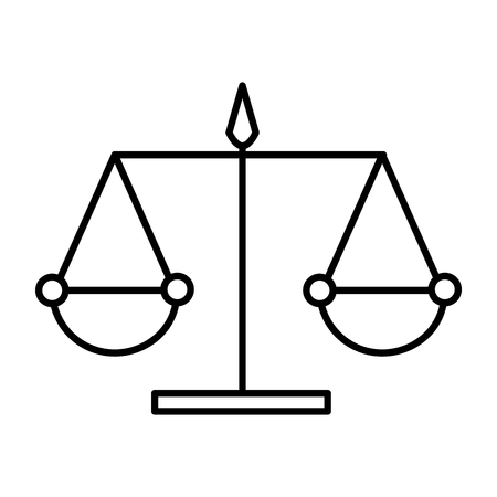 scale justice isolated icon vector illustration design