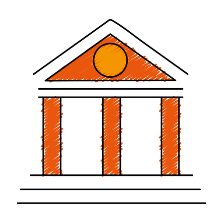 antiquities: building with columns icon vector illustration design Illustration