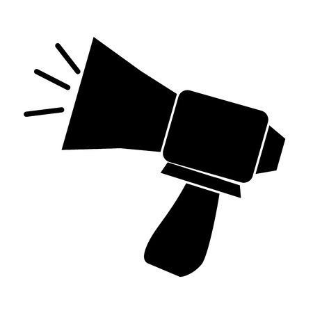 urgent announcement: megaphone sound isolated icon vector illustration design