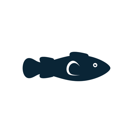 Fish icon over white background. vector illustration