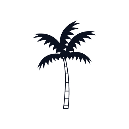 Tropical palm icon over white background. vector illustration Stock Vector - 76964138