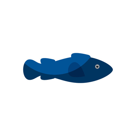 Fish icon over white background. Stock Vector - 76964453