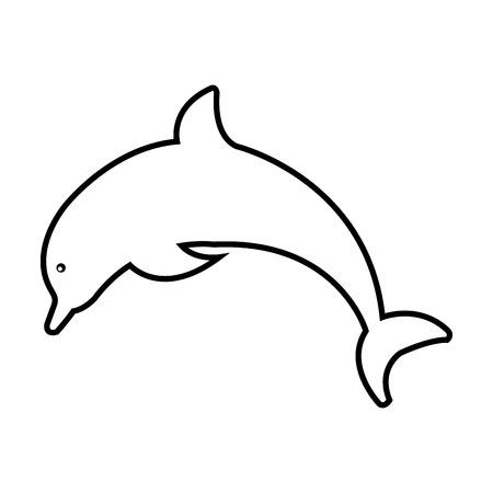 白い背景の上のイルカのアイコン。ベクトル図 写真素材 - 76964817