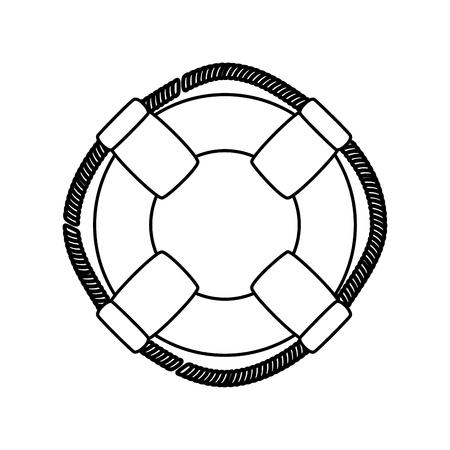 白い背景の上安全フロート アイコン。ベクトル図 写真素材 - 76964821