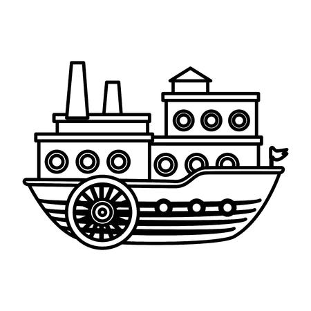big ship icon over white background. vector illustration Ilustração