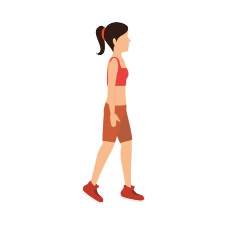 female athlete avatar character vector illustration design Stock Vector - 76991467