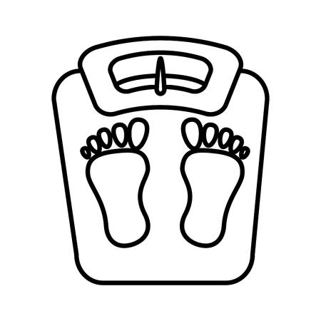 balance bathroom isolated icon vector illustration design