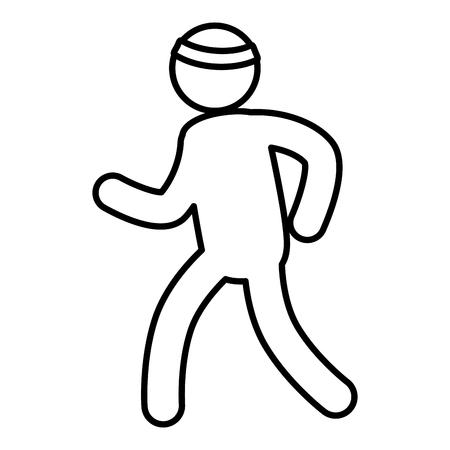 silhouette athlete isolated icon vector illustration design Illustration