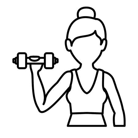 female athlete weight lifting avatar character vector illustration design Stock Vector - 76991544