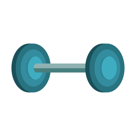 weight lifting dumbell icon vector illustration design
