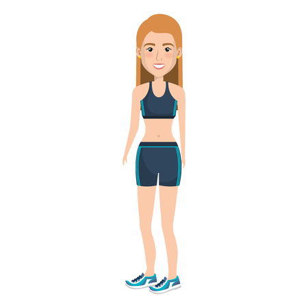 female athlete avatar character vector illustration design