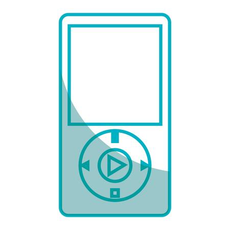 Reproductor de mp3 icono de la música ilustración vectorial de diseño Foto de archivo - 76991714