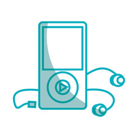 Diseño de ilustración de vector de icono de reproductor de mp3 de música Foto de archivo - 76991718