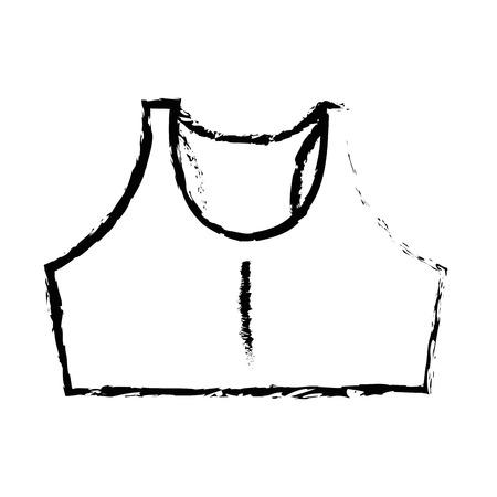 shirt female gym wear vector illustration design Illustration