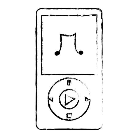 Diseño de ilustración de vector de icono de reproductor de mp3 de música Foto de archivo - 76991735