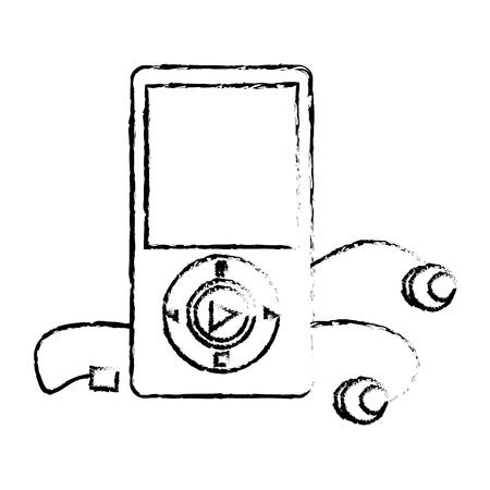 Diseño de ilustración de vector de icono de reproductor de mp3 de música Foto de archivo - 76991736