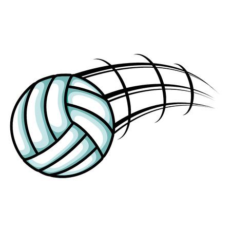 balon de voley: volleyball balloon isolated icon vector illustration design Vectores