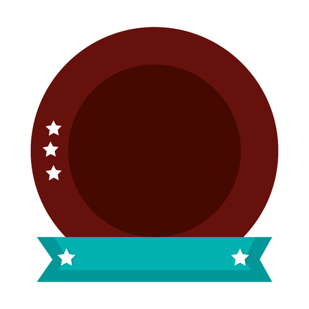 emblem with stars icon vector illustration design Illustration