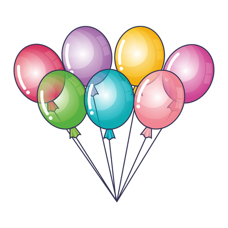 air: balloon air party icon vector illustration design Illustration