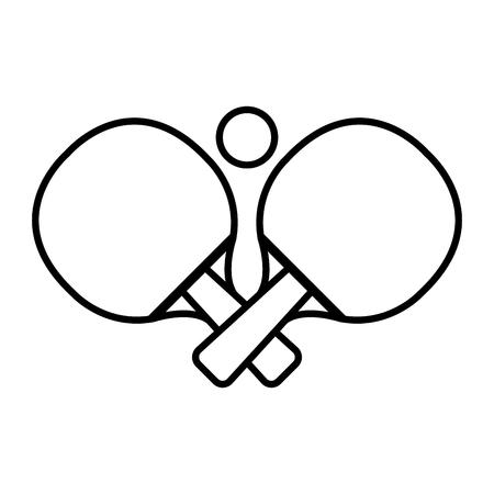 Ping Pong Schläger und Ball Vektor-Illustration Design Standard-Bild - 77048012