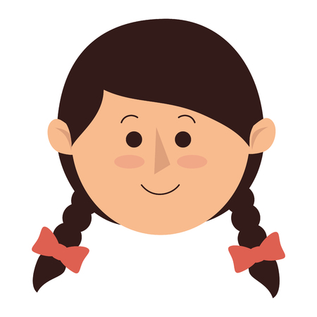 animation teenagers: cute little girl character vector illustration design