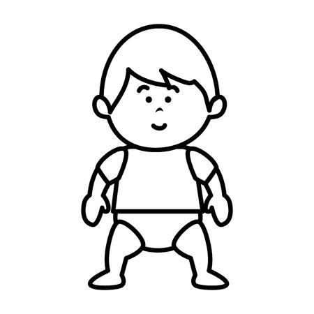 little baby avatar character vector illustration design