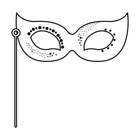 Carnaval masker geïsoleerd pictogram vector illustratie ontwerp Stockfoto - 77049074