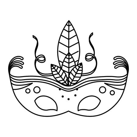 Carnaval masker geïsoleerd pictogram vector illustratie ontwerp Stockfoto - 77013586