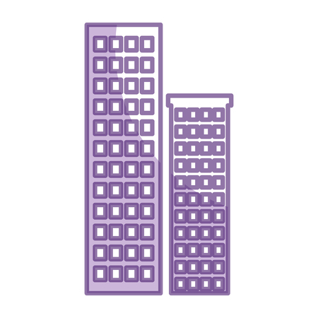 Buildings cityscape isolated icon vector illustration design Ilustração