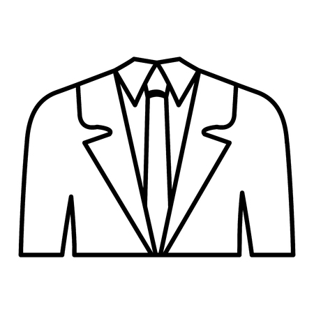 office wear: businessman suit isolated icon vector illustration design