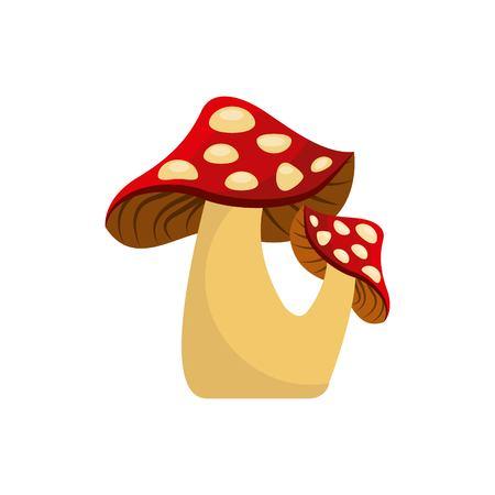 귀여운 그리기 요정 버섯 벡터 일러스트 레이션 디자인