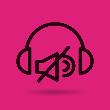 Music entertainment line icon vector illustration design