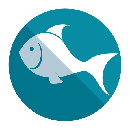 animal silhouette: Fish silhouette sea food menu vector illustration design