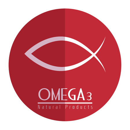 Omega 3 product healthy vector illustration design