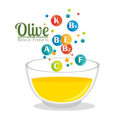 mediterranean diet: olive oil healthy product vector illustration design Illustration