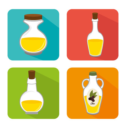 olive oil healthy product vector illustration design Stock Photo