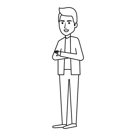 representative: businessman avatar character icon vector illustration design