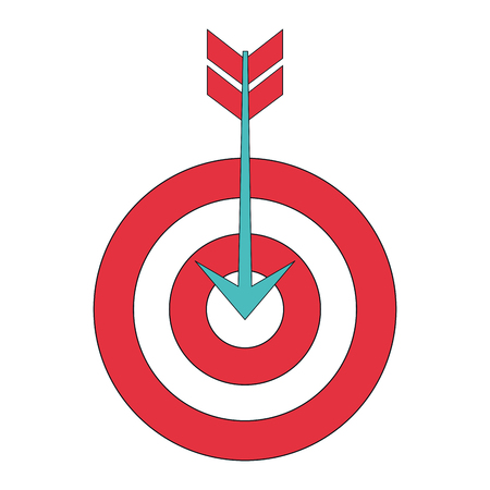 advantages: Target with arrow isolated icon vector illustration design.
