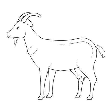 Goat animal farm icon vector illustration design.