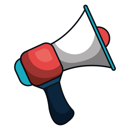 Megaphone sound isolated icon vector illustration design. Illustration