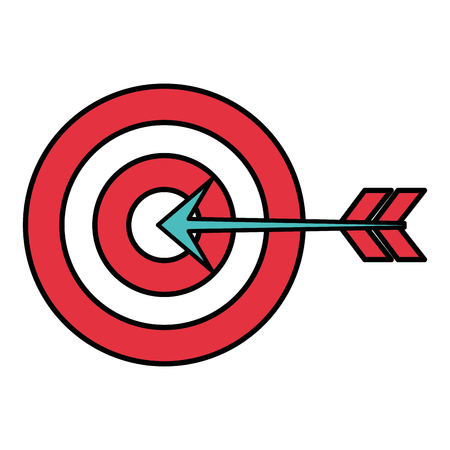 advantages: target with arrow isolated icon vector illustration design Stock Photo