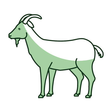 animal silhouette: goat animal farm icon vector illustration design Illustration
