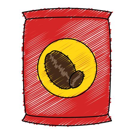 Coffee bag product icon vector illustration design