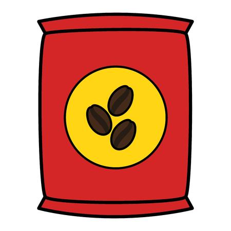 coffee bag product icon vector illustration design Stock Photo