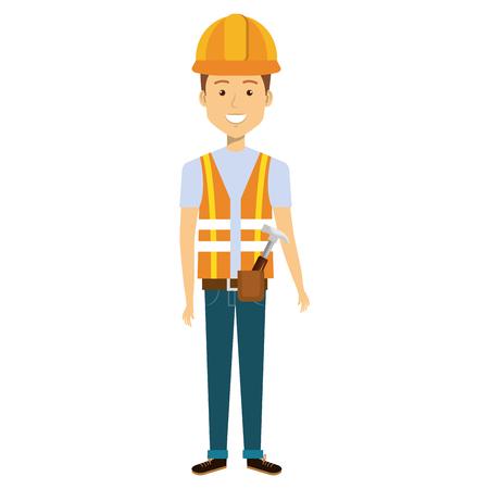 bouwvakker avatar karakter vector illustratie ontwerp Stock Illustratie