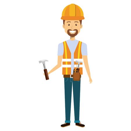 construction workman avatar character vector illustration design Vektorové ilustrace